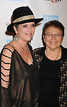 BEVERLY HILLS, CA - OCTOBER 28: Eve Ensler and POV's Patti Giggans  arrive at Peace Over Violence 40th Annual Humanitarian Awards dinner at Beverly Hills Hotel on October 28, 2011 in Beverly Hills, California.