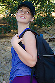Stock photo of woman hiking