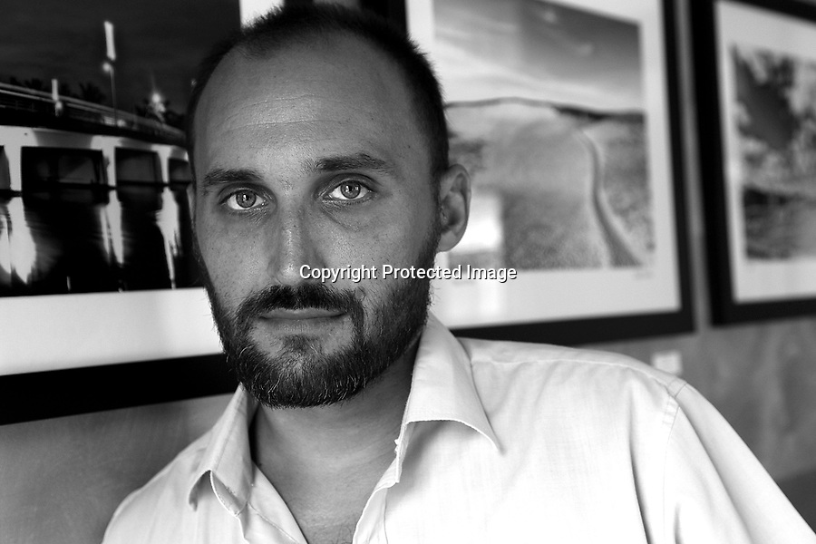 """Amir Bar-Lev, director of """"The Tillman Story"""" is photographed in Provincetown, MA.  06/17/10 Julia Cumes"""