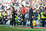 Real Madrid's coach Zinedine Zidane during La Liga match. April 09, 2016. (ALTERPHOTOS/Borja B.Hojas)