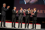 Ted Danson, Wallace Langham, Adam Rodriguez and Eric Szmanda congratulate Jerry Bruckheimer during the opening ceremony of the 54th Monte Carlo TV Festival at the Grimaldi Forum on June 7, 2014 in Monte-Carlo, Monaco.