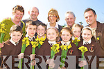 Pupils from Lissivigeen NS who are binding the daffodils for the Irrish Cancer Society front row l-r: Keelan Daly, Evan Jones, Gavin, Aisling, Lauren O'Sullivan, Keelie O'Connor, Ava O'Sullivan. Back row: Miriam Long, Mike McAulliffe, Kathrina Breen, Timothy Moriarty and Eugene O'Sullivan