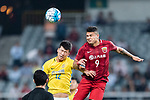 Shanghai FC Forward Elkeson De Oliveira Cardoso (R) fights for the ball with Jiangsu FC Midfielder Zhang Xiaobin (L) during the AFC Champions League 2017 Round of 16 match between Shanghai SIPG FC (CHN) vs Jiangsu FC (CHN) at the Shanghai Stadium on 24 May 2017 in Shanghai, China. Photo by Marcio Rodrigo Machado / Power Sport Images