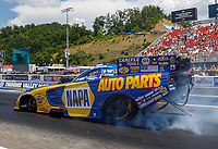Jun 18, 2017; Bristol, TN, USA; NHRA funny car driver Ron Capps during the Thunder Valley Nationals at Bristol Dragway. Mandatory Credit: Mark J. Rebilas-USA TODAY Sports