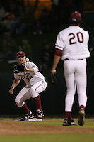 STANFORD, CA - FEBRUARY 20:  First Baseman Brent Milleville #25 of the Stanford Cardinal during Stanford's season opener game against the Vanderbilt Commodores on February 20, 2009 at Sunken Diamond in Stanford, California.