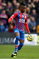 3rd November 2019; Selhurst Park, London, England; English Premier League Football, Crystal Palace versus Leicester City; Wilfried Zaha of Crystal Palace - Strictly Editorial Use Only. No use with unauthorized audio, video, data, fixture lists, club/league logos or 'live' services. Online in-match use limited to 120 images, no video emulation. No use in betting, games or single club/league/player publications