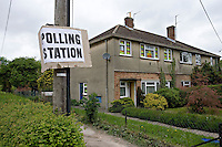 Vote Labour posters displayed from house window. .©shoutpictures.com..john@shoutpictures.com.