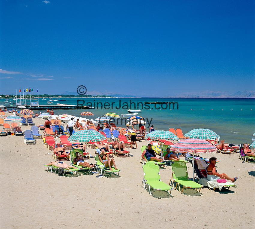Greece, Corfu, Kavos: Beach Scene   Griechenland, Korfu, Kavos: Strand
