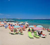 Greece, Corfu, Kavos: Beach Scene | Griechenland, Korfu, Kavos: Strand