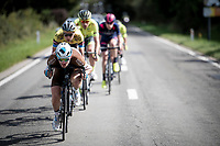 Nico Denz (DEU/AG2R-La Mondiale) leading the breakaway group<br /> <br /> 60th Grand Prix de Wallonie 2019<br /> 1 day race from Blegny to Citadelle de Namur (BEL / 206km)<br /> <br /> ©kramon