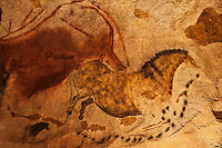 Europe/France/Aquitaine/24/Dordogne/Périgord Noir/Montignac: Grotte de Lascaux II - Grottes ornée  paléolithique - Cheval [Non destiné à un usage publicitaire - Not intended for an advertising use]