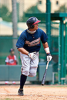 Edison Sanchez of the Gulf Coast League Braves during the game against the Gulf Coast League Tigers July 3 2010 at the Disney Wide World of Sports in Orlando, Florida.  Photo By Scott Jontes/Four Seam Images
