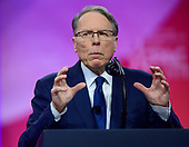 Wayne LaPierre, executive vice president of the National Rifle Association, speaks at the Conservative Political Action Conference (CPAC) at the Gaylord National Resort and Convention Center in National Harbor, Maryland on Saturday, March 2, 2019.<br /> Credit: Ron Sachs / CNP <br /> (RESTRICTION: NO New York or New Jersey Newspapers or newspapers within a 75 mile radius of New York City)