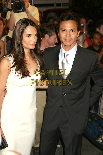 "TALISA SOTO & BENJAMIN BRATT .At The Purr-fect Catwoman Merchandise Launch and After Party For The New York Screening Of ""Catwoman"" at Henri Bendel in New York . .July 21st 2004..half length white dress.Ref: IW.www.capitalpictures.com.sales@capitalpictures.com.©Capital Pictures."