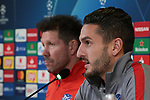 Diego Simeone Head coach of Atletico Madrid and Koke during the press conference at Juventus Stadium, Turin. Picture date: 25th November 2019. Picture credit should read: Jonathan Moscrop/Sportimage