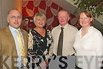 ANNUAL SOCIAL: Attending the Abbeydorney Annual Social in the Ballyroe Heights Hotel on Saturday night were l-r: Paudie Casey, Helen Casey, Brendan Shanahan and Margaret Shanahan.   Copyright Kerry's Eye 2008