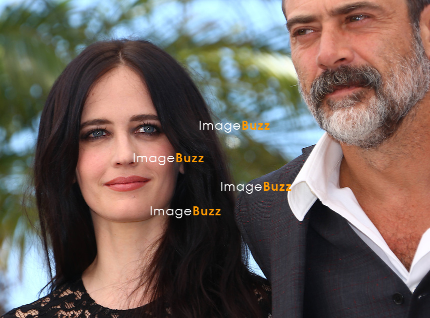 CPE/Eva Green and Jeffrey Dean Morgan attend 'The Salvation' photocall during the 67th Annual Cannes Film Festival on May 17, 2014 in Cannes