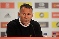 Ryan Giggs Manager of Wales during the Wales Training Press Conference at Hensol Castle in Cardiff, Wales, UK. Monday 5th November  2018