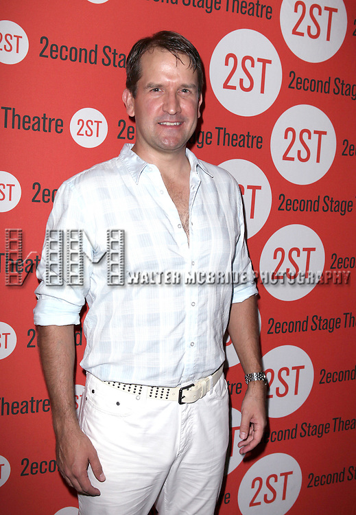 James Moye  .attending the after Party for Off-Broadway Opening Night Performance of Second Stage Theatre's 'Dogfight' at HB Burger in New York City.