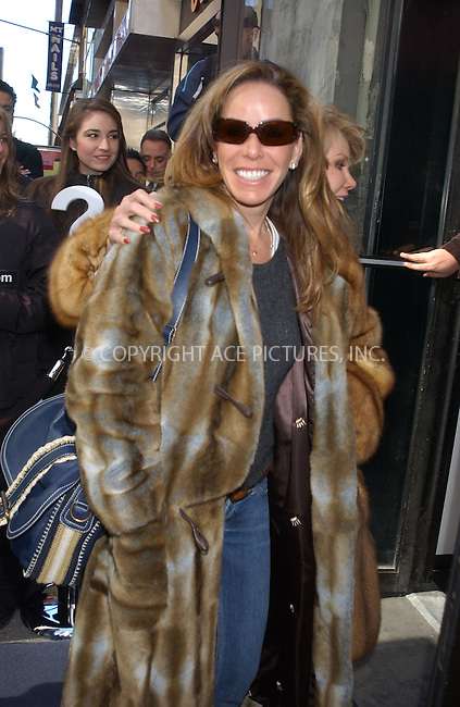 WWW.ACEPIXS.COM . . . . . ....NEW YORK, FEBRUARY 23, 2005....Melissa Rivers seen out on 42nd Street.....Please byline: KRISTIN CALLAHAN - ACE PICTURES.. . . . . . ..Ace Pictures, Inc:  ..Philip Vaughan (646) 769-0430..e-mail: info@acepixs.com..web: http://www.acepixs.com