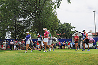 So Yeon Ryu (KOR), Gerina Piller (USA), and Suzann Pettersen (NOR) depart the 10th tee during Thursday's round 1 of the 2017 KPMG Women's PGA Championship, at Olympia Fields Country Club, Olympia Fields, Illinois. 6/29/2017.<br /> Picture: Golffile | Ken Murray<br /> <br /> <br /> All photo usage must carry mandatory copyright credit (&copy; Golffile | Ken Murray)