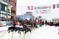 Ryan Redington during the ceremonial start of the 2018 Iditarod in Anchorage, Alaska on Saturday, March 1 2018.<br /> <br /> Photo by Jeff Schultz/SchultzPhoto.com  (C) 2018  ALL RIGHTS RESERVED