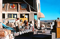 Paolo Soleri: ARCOSANTI--Casting bells. Photo '76.
