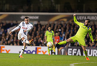 Dele Alli of Tottenham Hotspur hits a shot at goal during the UEFA Europa League Group J match between Tottenham Hotspur and R.S.C. Anderlecht at White Hart Lane, London, England on 5 November 2015. Photo by Andy Rowland.