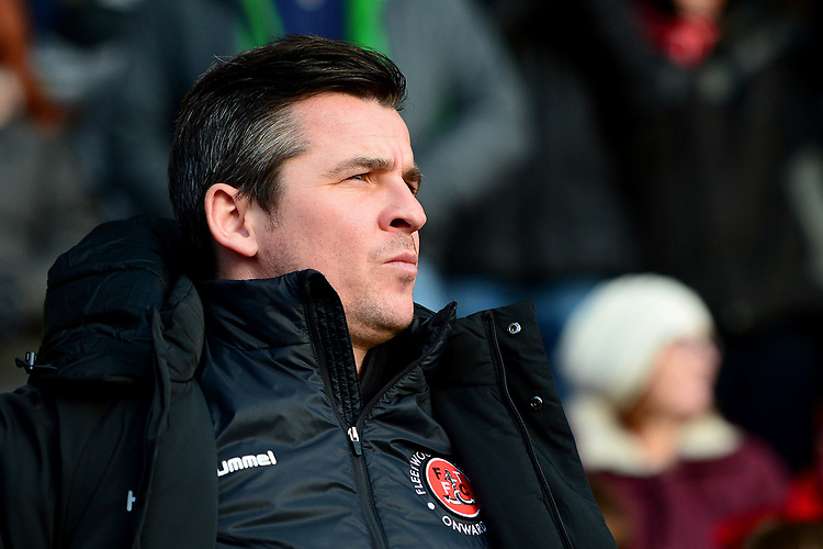 Fleetwood Town manager Joey Barton looks on<br /> <br /> Photographer Richard Martin-Roberts/CameraSport<br /> <br /> The EFL Sky Bet League One - Fleetwood Town v Portsmouth - Saturday 29th December 2018 - Highbury Stadium - Fleetwood<br /> <br /> World Copyright © 2018 CameraSport. All rights reserved. 43 Linden Ave. Countesthorpe. Leicester. England. LE8 5PG - Tel: +44 (0) 116 277 4147 - admin@camerasport.com - www.camerasport.com