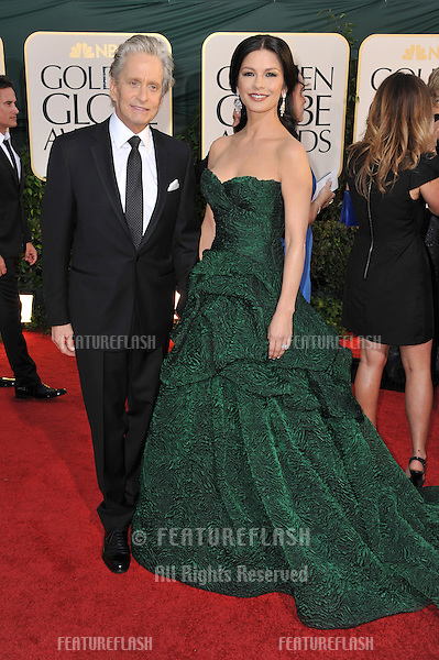 Michael Douglas & Catherine Zeta-Jones at the 68th Annual Golden Globe Awards at the Beverly Hilton Hotel..January 16, 2011  Beverly Hills, CA.Picture: Paul Smith / Featureflash