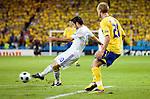 Giorgos Karagounis and Christian Wilhelmsson at Euro 2008 Greece-Sweden 06102008, Salzburg, Austria