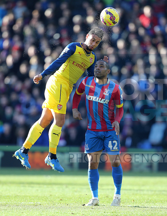 Crystal Palace's Jason Puncheon tussles with Arsenal's Francis Coquelin<br /> <br /> Barclays Premier League - Crystal Palace  vs Arsenal  - Selhurst Park - England - 21st February 2015 - Picture David Klein/Sportimage