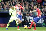 Club Atletico de Madrid's Saul Niguez, Koke Resurreccion and Futbol Club Barcelona's Malcom Filipe Silva  during La Liga match. November 24,2018. (ALTERPHOTOS/Alconada)