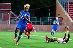 Solna 2015-08-31 Fotboll Damallsvenskan AIK - Eskilstuna United :  <br /> Eskilstunas Gaelle Enganamouit firar sitt 0-2 m&aring;l under matchen mellan AIK och Eskilstuna United <br /> (Foto: Kenta J&ouml;nsson) Nyckelord:  Damallsvenskan Allsvenskan Dam Damer Damfotboll Skytteholm Skytteholms IP AIK Gnaget Eskilstuna United jubel gl&auml;dje lycka glad happy