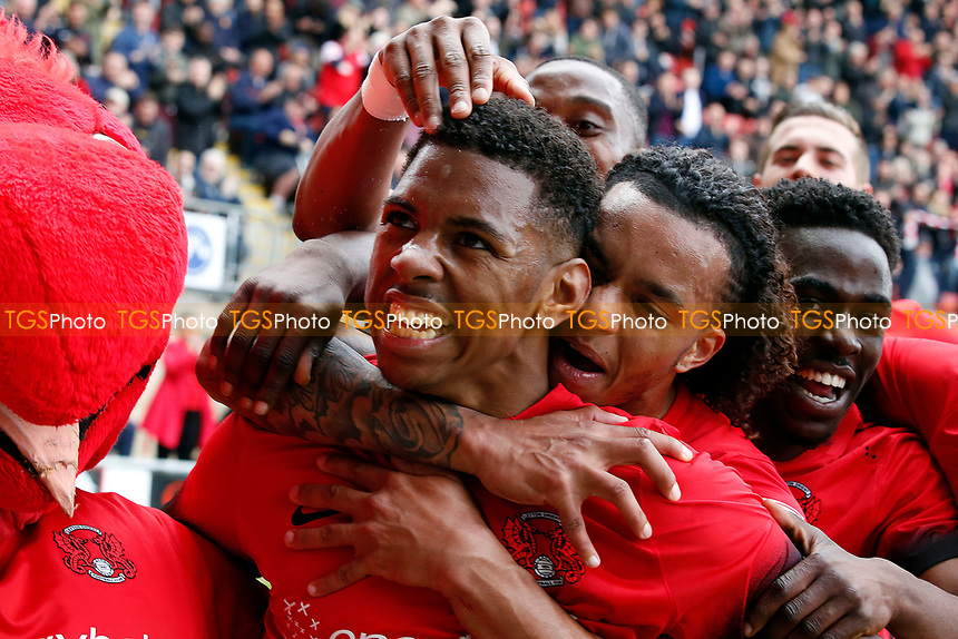O's Tristan Abrahams celebrates after scoring during Leyton Orient vs Hartlepool United, Sky Bet EFL League 2 Football at the Matchroom Stadium on 17th April 2017