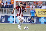 14 June 2014: Chivas USA's Eric Avila. The Carolina RailHawks of the North American Soccer League played Chivas USA of Major League Soccer at WakeMed Stadium in Cary, North Carolina in the fourth round of the 2014 Lamar Hunt U.S. Open Cup soccer tournament. The RailHawks advanced by winning a penalty kick shootout 3-2 after the game had ended in a 1-1 tie after overtime.