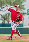 7 March 2015: Washington Nationals starting pitcher Stephen Strasburg in Spring Training action against the St. Louis Cardinals at Space Coast Stadium in Viera, Florida. The Nationals rallied to defeat the Cardinals 6-5 in Grapefruit League play. Mandatory Credit: Ed Wolfstein Photo *** RAW (NEF) Image File Available ***