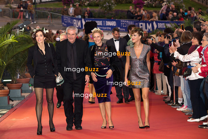 Anne Parillaud, Claude Lelouch, Florence Thomassin &amp; Victoria Bedos lors de la c&eacute;r&eacute;monie de cl&ocirc;ture du 27&egrave;me Festival du film britannique de Dinard. <br /> France, Dinard, 1er octobre 2016.<br /> Closing ceremony of the 27th Edition of the Dinard British Film Festival.<br /> France, Dinard, 1st October 2016.