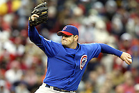 03 April 2006: Chicago Cubs' Will Ohman pitches against Cincinnati Reds during the Reds' home opener at Great American Ballpark in Cincinnati, Ohio.<br />