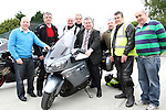 """Principal Michael Moley with Mayor Paul Bell and some of the Motorcyclists before the """"Run of the Country"""" Motorcycle fundraiser at St.Itas school....(Photo credit should read Jenny Matthews www.newsfile.ie)....This Picture has been sent you under the conditions enclosed by:.Newsfile Ltd..The Studio,.Millmount Abbey,.Drogheda,.Co Meath..Ireland..Tel: +353(0)41-9871240.Fax: +353(0)41-9871260.GSM: +353(0)86-2500958.email: pictures@newsfile.ie.www.newsfile.ie."""