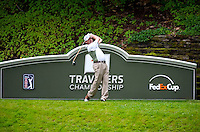 06/24/09 - Photo by John Cheng for Newsport.PGA Professional Rich Beem tees off at the Traverlers Championship during the Pro-AM event at TPC River Highlands in Cromewll, Connecticut.