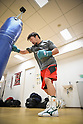 Boxing media workout at Ohashi Boxing Gym