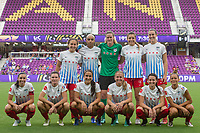 Orlando, FL - Saturday August 05, 2017: Chicago Red Stars team shot during a regular season National Women's Soccer League (NWSL) match between the Orlando Pride and the Chicago Red Stars at Orlando City Stadium.