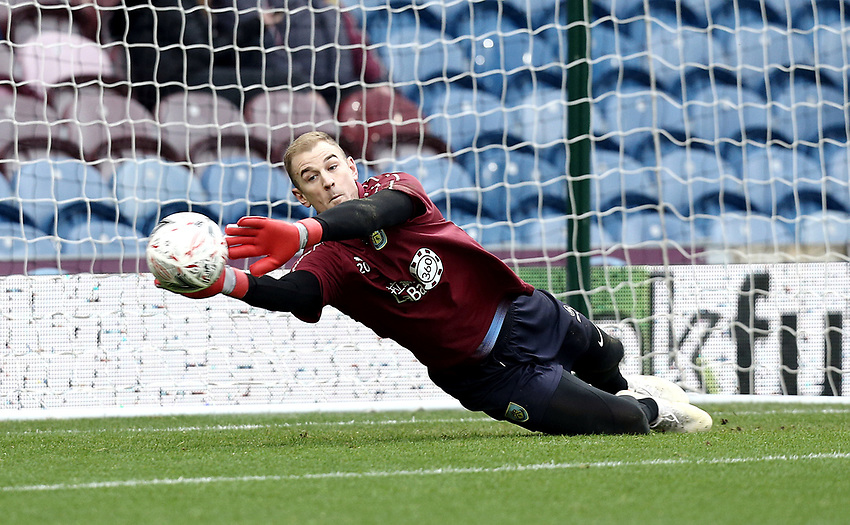 Burnley's Joe Hart during the pre-match warm-up <br /> <br /> Photographer Rich Linley/CameraSport<br /> <br /> Emirates FA Cup Third Round - Burnley v Barnsley - Saturday 5th January 2019 - Turf Moor - Burnley<br />  <br /> World Copyright © 2019 CameraSport. All rights reserved. 43 Linden Ave. Countesthorpe. Leicester. England. LE8 5PG - Tel: +44 (0) 116 277 4147 - admin@camerasport.com - www.camerasport.com