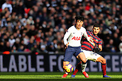 2nd February 2019, Wembley Stadium, London England; EPL Premier League football, Tottenham Hotspur versus Newcastle United; Son Heung-Min of Tottenham Hotspur shields the ball from DeAndre Yedlin of Newcastle United