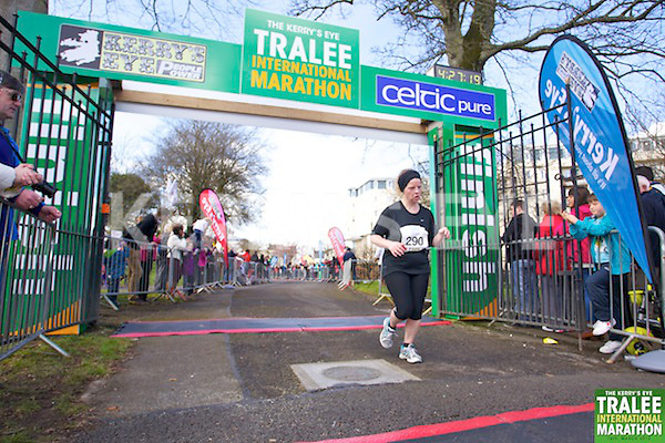 0290 Louise Keane pictured at the finish line of  the Kerry's Eye, Tralee International Marathon on Saturday March 16th 2013.