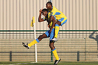 Joel Nouble of Haringey scores the winning goal to send his team into the first round of the FA cup to play AFC Wimbledonduring Haringey Borough vs Poole Town, Emirates FA Cup Football at Coles Park Stadium on 20th October 2018