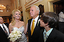 Trina Grimes Scott and former Governor Edwin Edwards greet the media and guests after getting married in the French Quarter in New Orleans, La., Friday, July 29, 2011. Edwards was recently released from prison where he served eight years on corruption charges....(AP Photo/Cheryl Gerber)