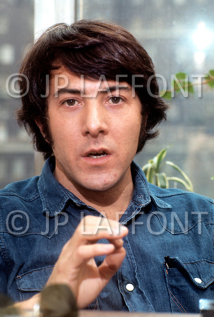 Manhattan, NY, USA. May 1st, 1972. American actor Dustin Hoffman during a photo session at his house.