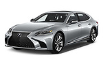 2019 Lexus LS  Executive 4 Door Sedan angular front stock photos of front three quarter view